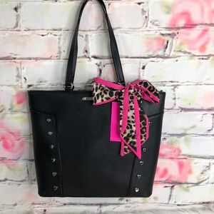 Betsey Johnson Heart Studded Tote